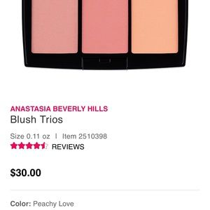 Anastasia Beverly Hills blush trio peachy love